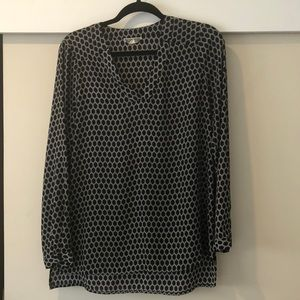 Black and White Blouse Size M